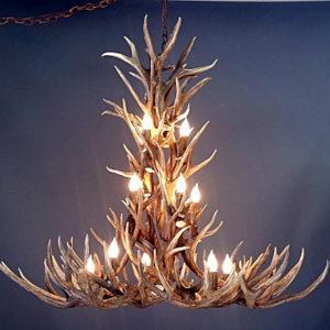 538 crestone peak mule deer antler chandelier