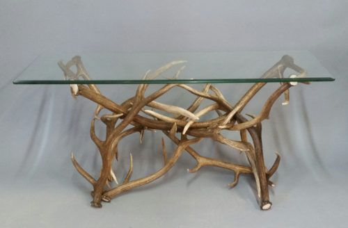 730 Mule Deer Elk Antler Sofa Table