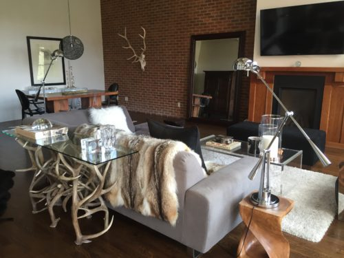 730 elk and mule deer antler sofa table antler decor