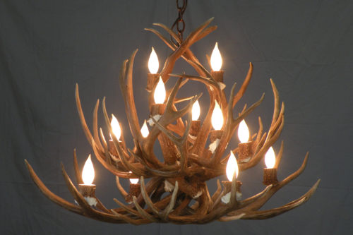 526 mule deer antler chandelier