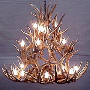508-L bristlecone mule deer atnelr chandelier