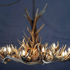 570-L mt elbert elk and mule deer antler chandelier