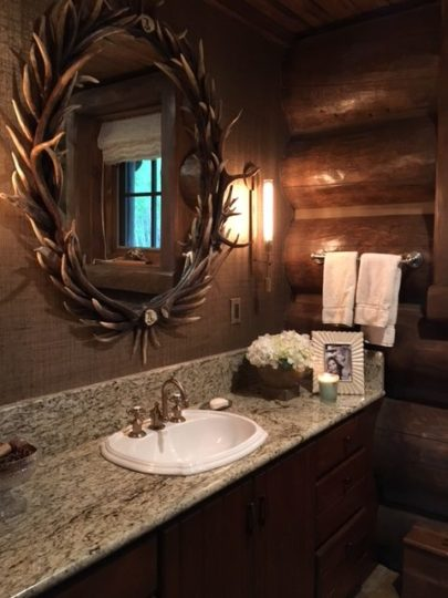 bathroom antler mirror antler decor
