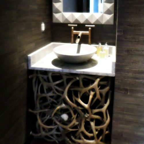 Bathroom Sink Vanity Of Real Deer Antlers