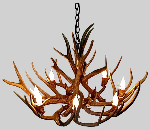 Resin antler chandeliers archives the peak antler co maybe you even have a pile of shed antlers on the porch youve seen custom antler chandeliers and thought how aloadofball Choice Image